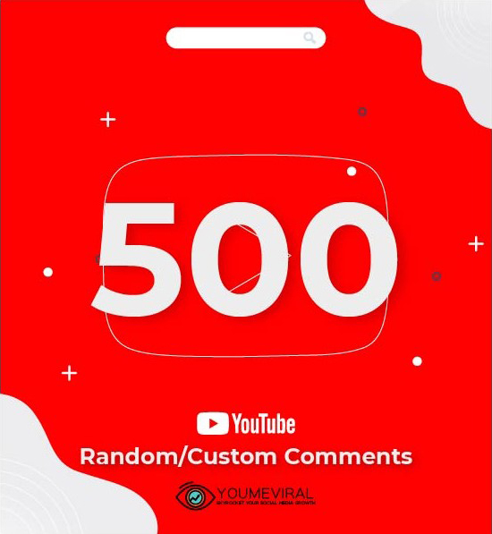 Buy 500 YouTube Comments Cheap