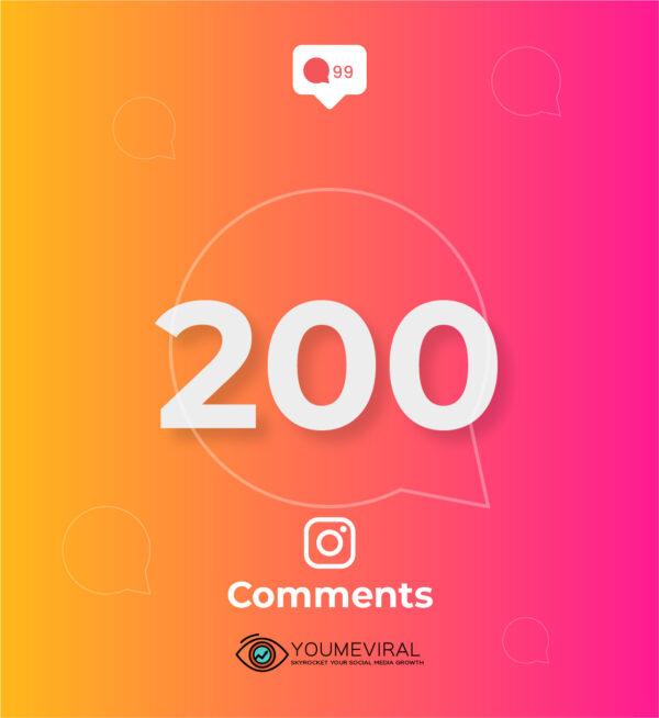 Buy 200 Instagram Custom Comments Cheap