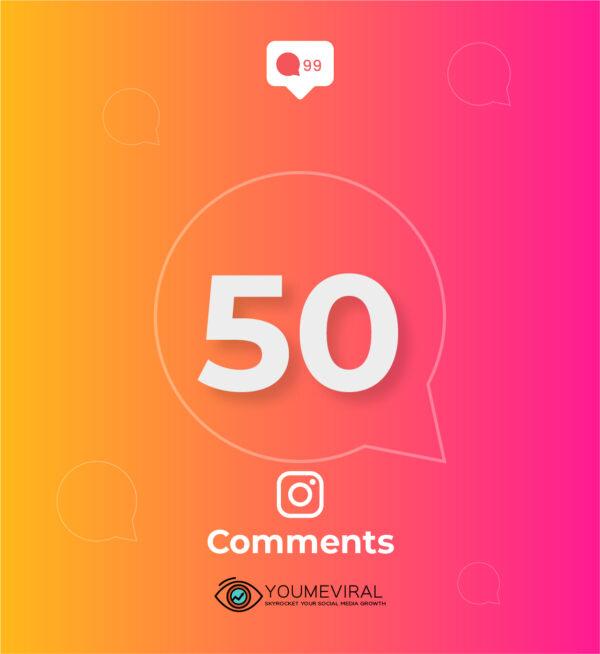 Buy 50 Instagram Custom Comments cheap