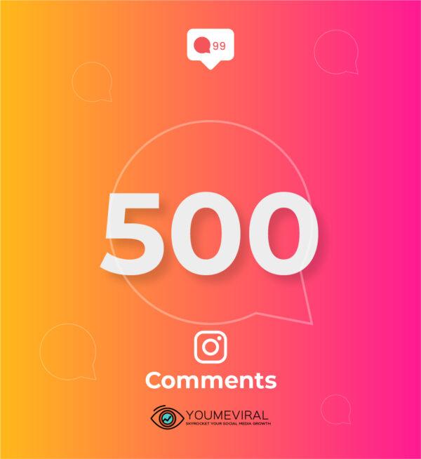 Buy 500 Instagram Custom Comments Cheap