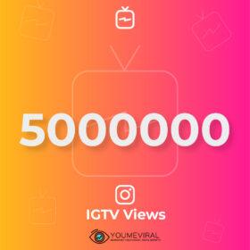 Buy 5000000 IGTV Views Cheap