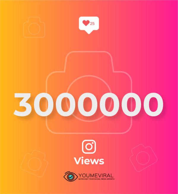 Buy 3000000 (3M) Instagram Views Cheap