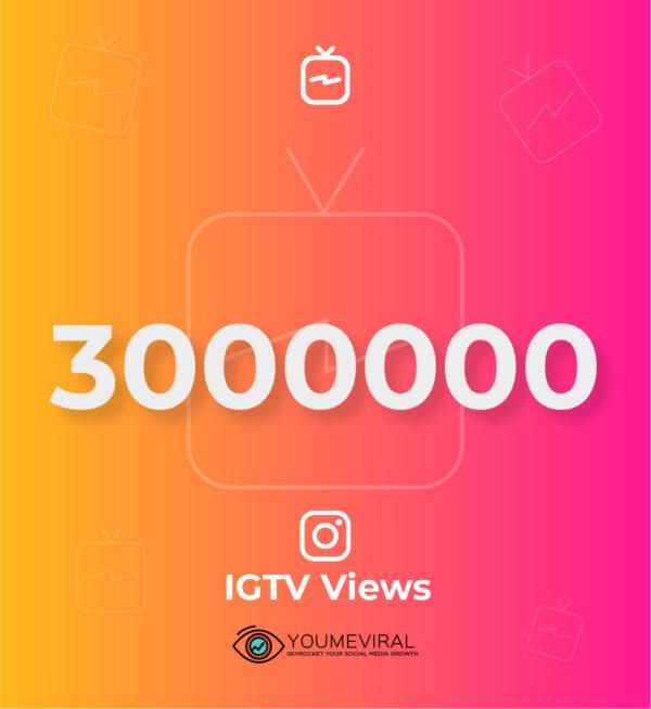 buy 3000000 (3M) IGTV Views cheap