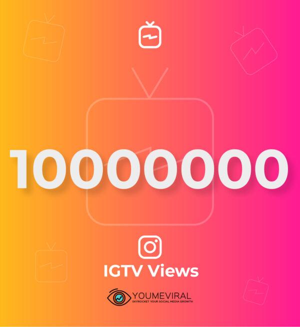 buy 10000000 (10M) IGTV Views cheap