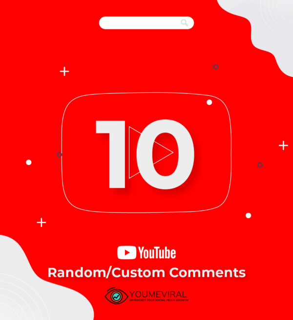 Buy 10 YouTube Comments Cheap