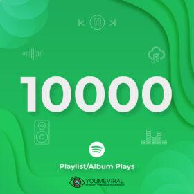 Buy 10000 Spotify Plays - Playlist/Album Cheap