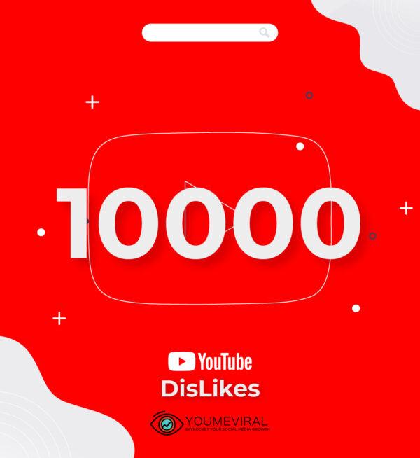 Buy 10000 YouTube Dislikes Cheap