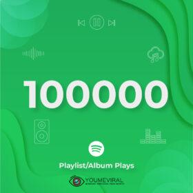 Buy 100000 Spotify Plays - Playlist/Album Cheap