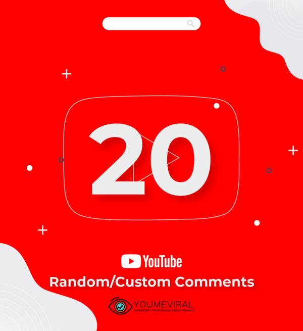 Buy 20 YouTube Comments Cheap