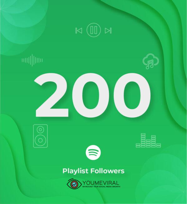 Buy 200 Spotify Followers - Playlist Cheap