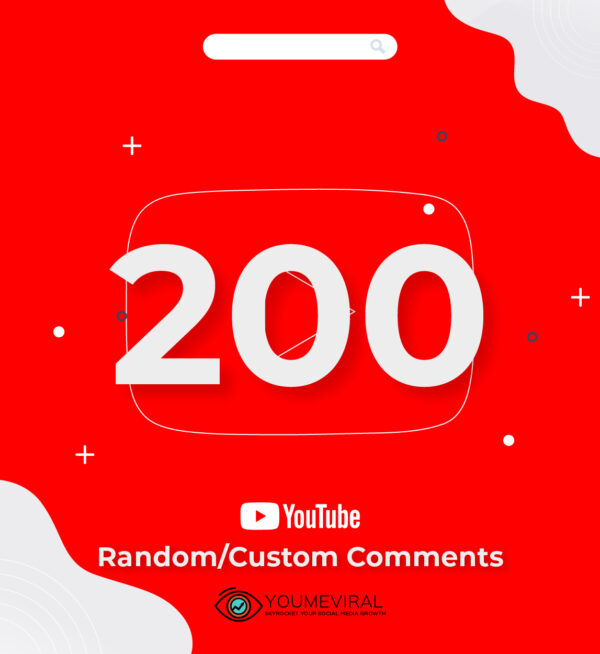 Buy 200 YouTube Comments Cheap