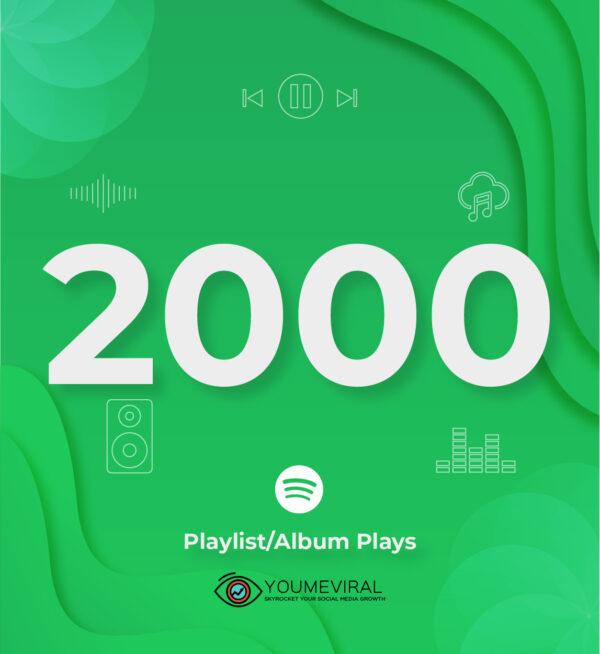Buy 2000 Spotify Plays - Playlist/Album Cheap