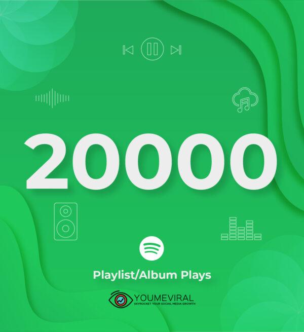 Buy 20000 Spotify Plays - Playlist/Album Cheap