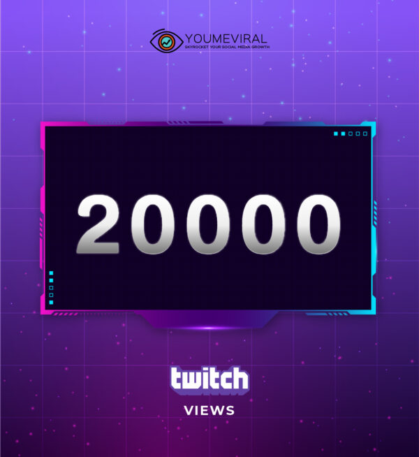 Buy 20000 Twitch Channel Views Cheap
