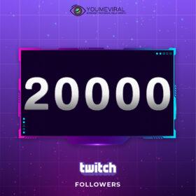 Buy 20000 Twitch Followers Cheap