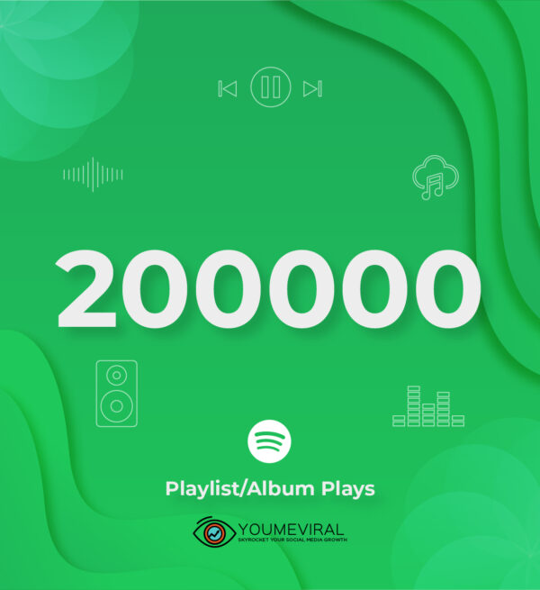 Buy 200000 Spotify Plays - Playlist/Album Cheap