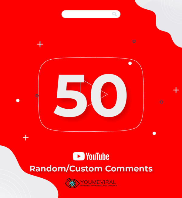 Buy 50 YouTube Comments Cheap