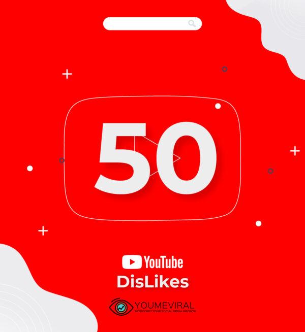 Buy 50 YouTube DisLikes Cheap