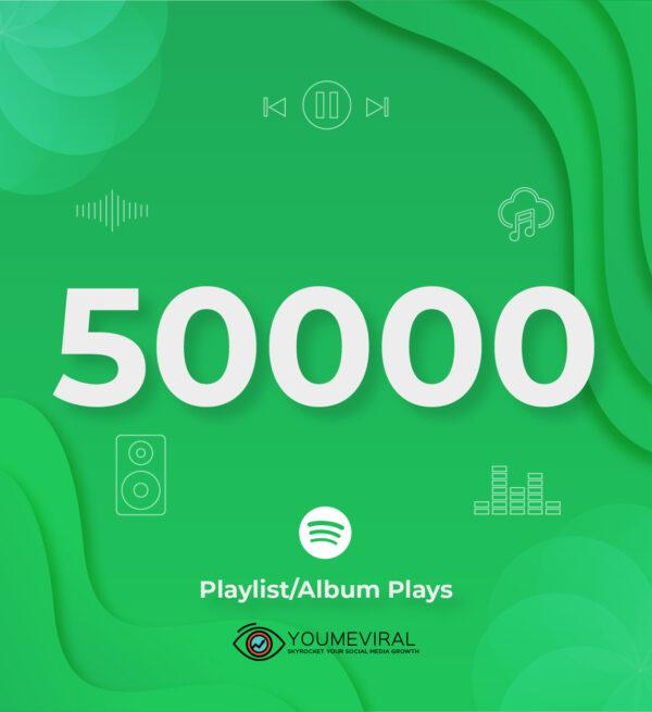 Buy 50000 Spotify Plays - Playlist/Album Cheap