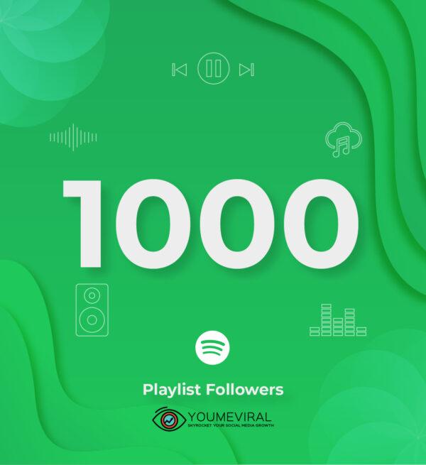 Buy 1000 Spotify Followers - Playlist Cheap