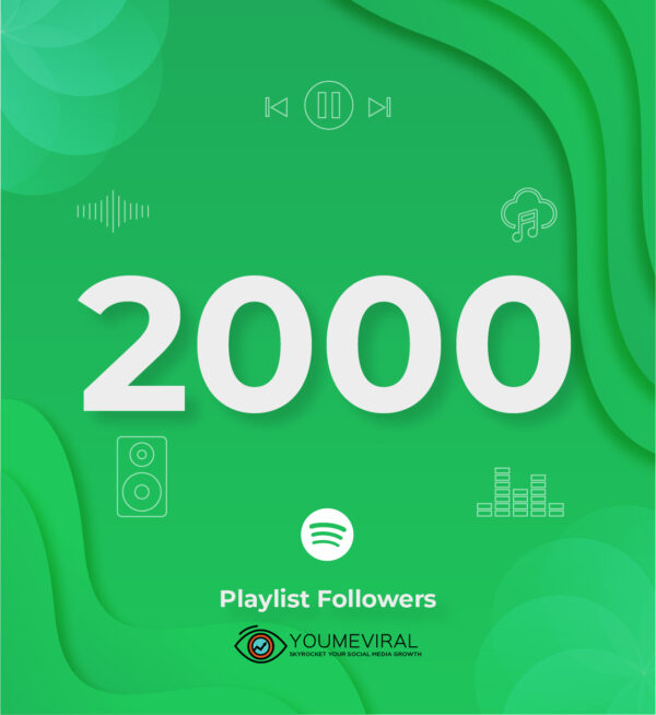 Buy 2000 Spotify Followers - Playlist Cheap