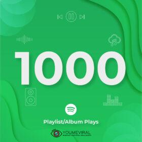 Buy 1000 Spotify Plays - Playlist/Album Cheap