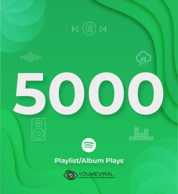 Buy 5000 Spotify Plays - Playlist/Album Cheap