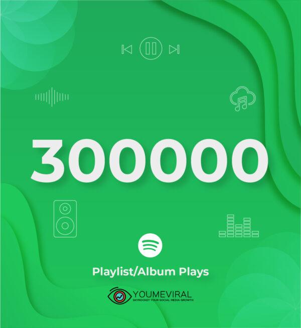 Buy 300000 Spotify Plays - Playlist/Album Cheap