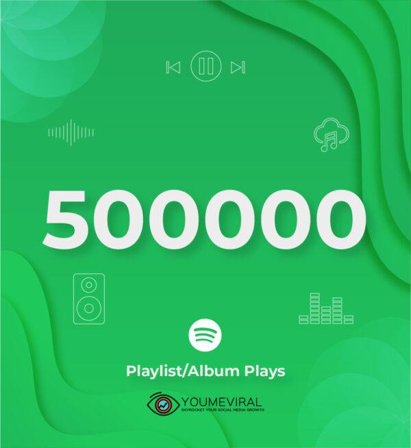 Buy 500000 Spotify Plays - Playlist/Album Cheap