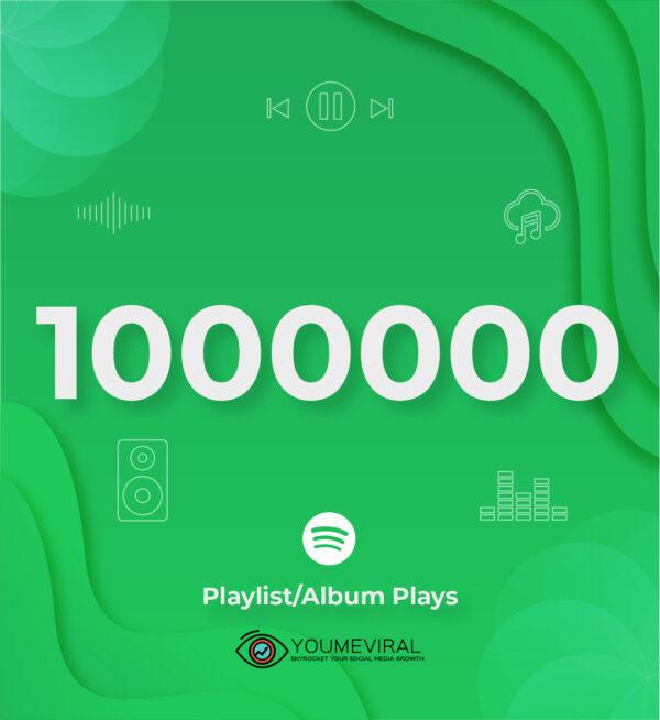 Buy 1000000 Spotify Plays - Playlist/Album Cheap