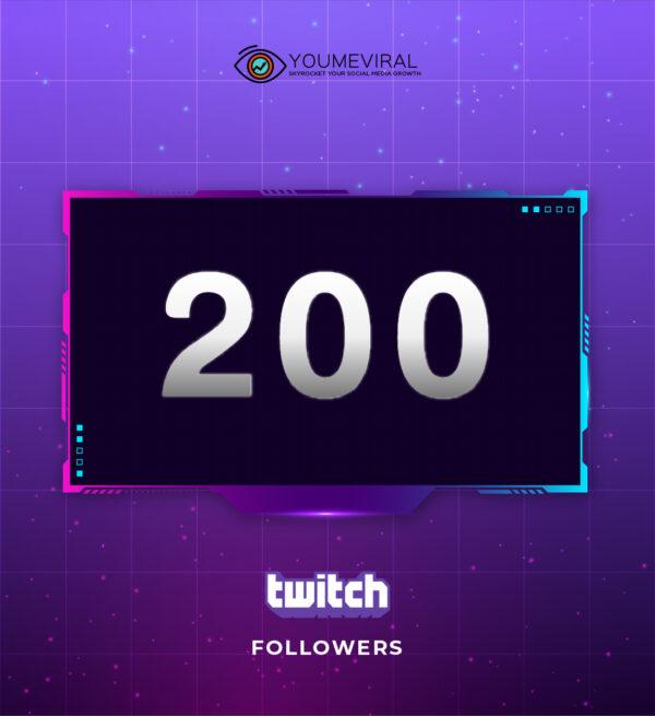 Buy 200 Twitch Followers Cheap