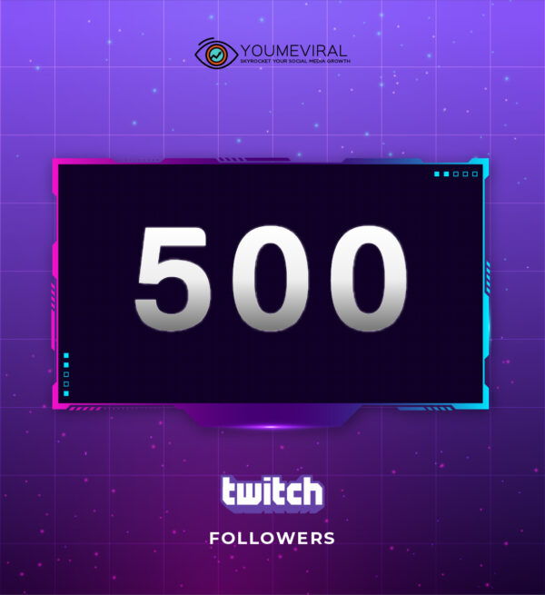 Buy 500 Twitch Followers Cheap