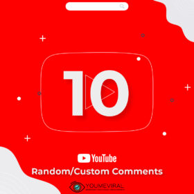 Buy 10 Random/Custom YouTube Comments Cheap