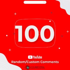 Buy 100 Random/Custom YouTube Comments Cheap